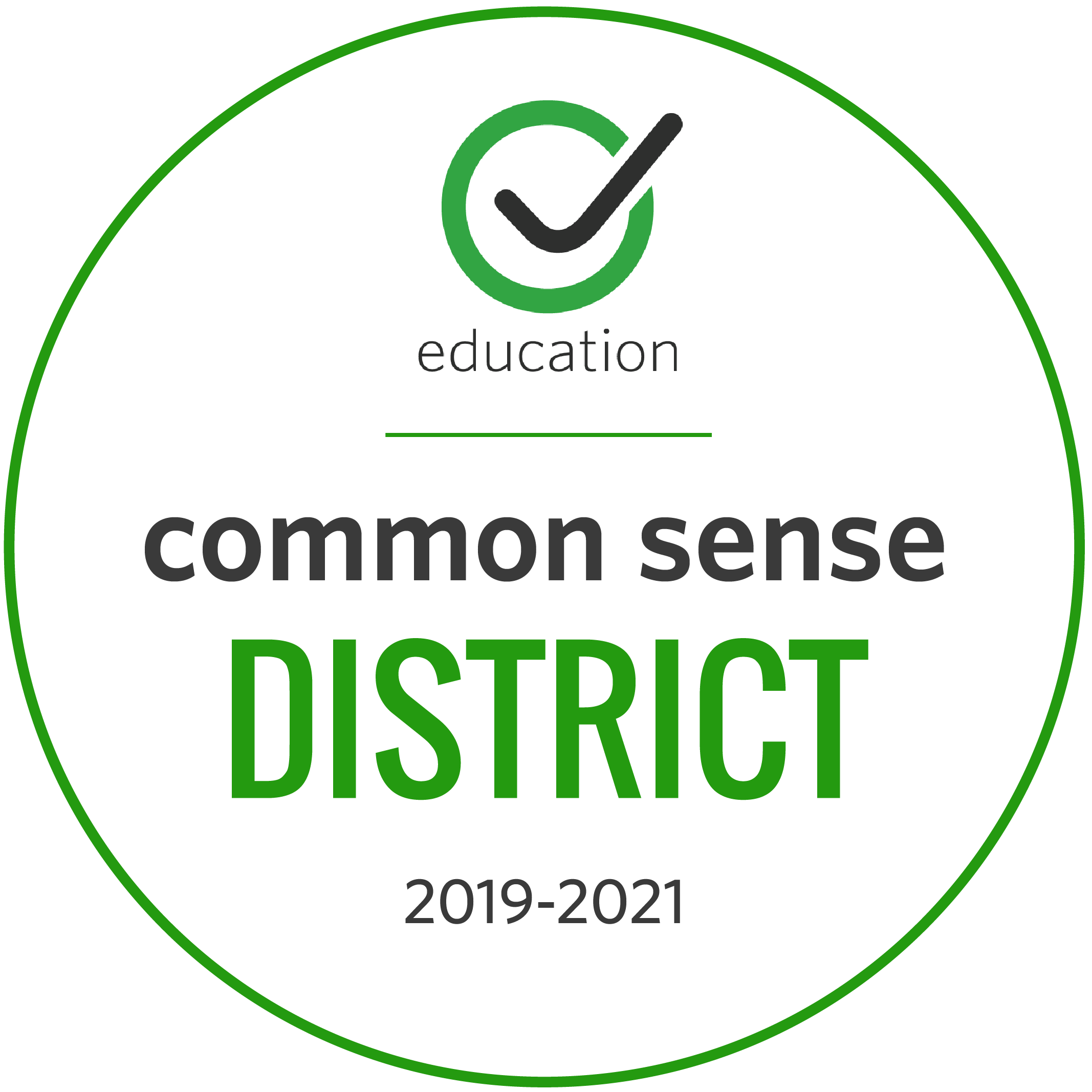 Common Sense Media Certified District badge