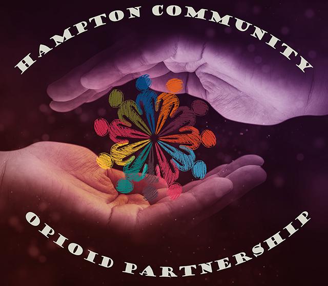 hampton community opioid outreach logo