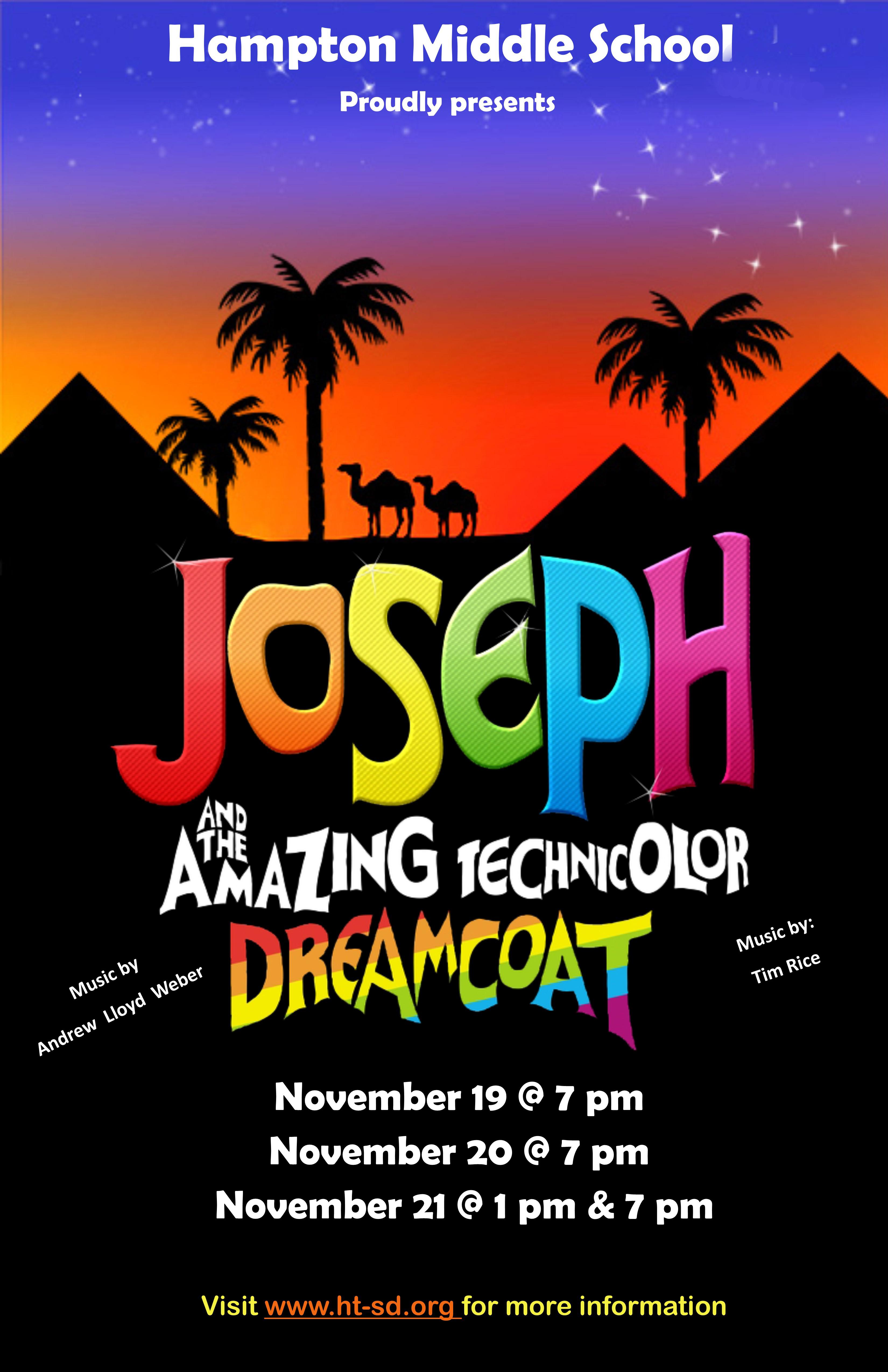 Nov  19-21: HMS Presents Joseph and the Technicolor Dreamcoat